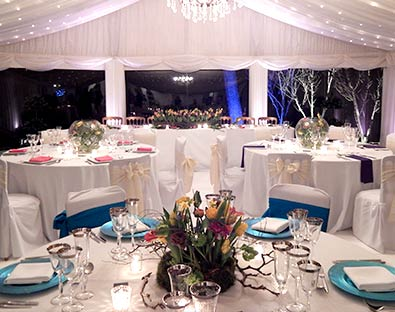 Capesthorne Hall has a marquee in the Lakeside wing used for wedding breakfasts and evening receptions