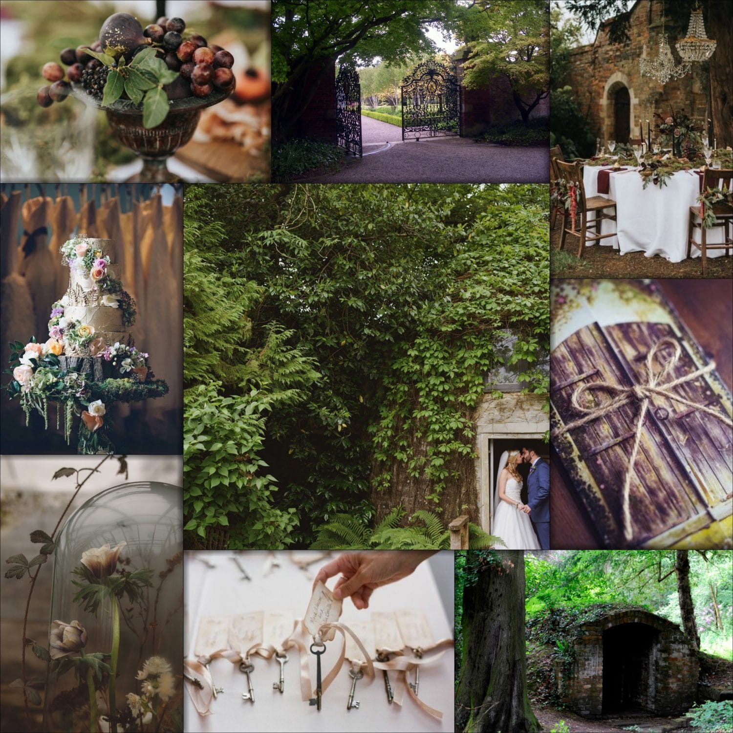 Enchanted garden wedding inspiration capesthorne hall for Enchanted gardens wedding venue
