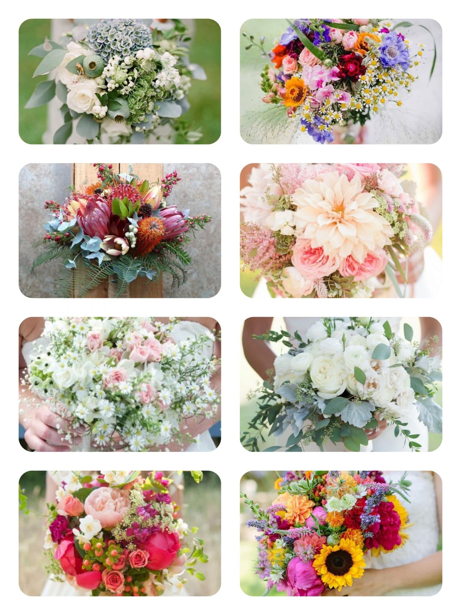 Summer Wedding Bouquets - Capesthorne Hall and Weddings