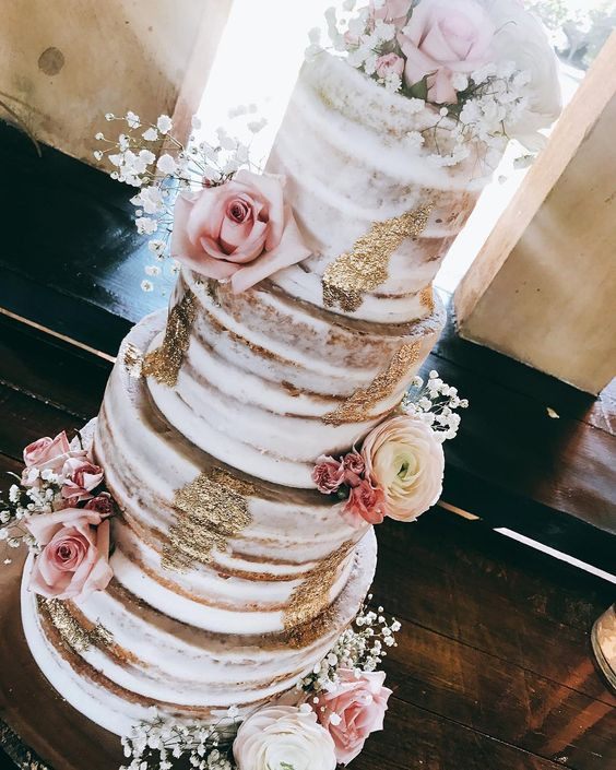 Image Source - https://www.instagram.com/p/BjSb0yKnzQJ/?tagged=nakedweddingcake