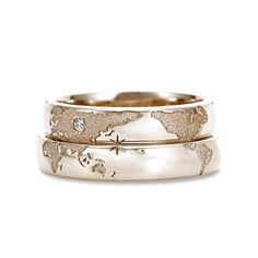 Image Source - https://www.etsy.com/nz/listing/272241622/14k-gold-travelers-wedding-bands-unique?ref=related-6