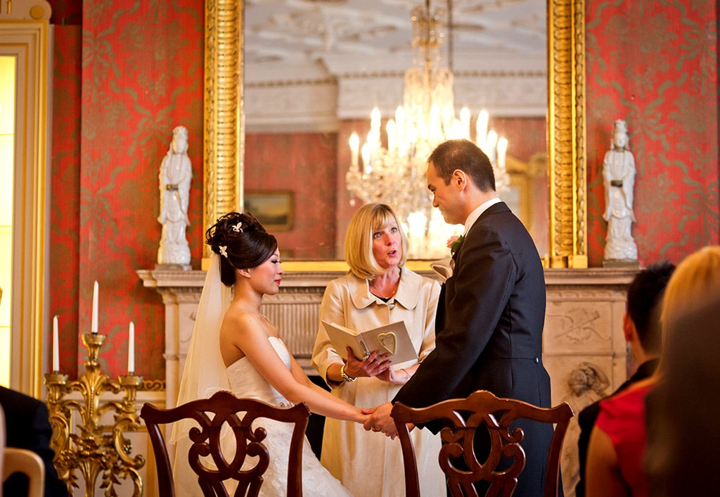 Civil ceremony at Capesthorne Hall, the premier Cheshire wedding venue