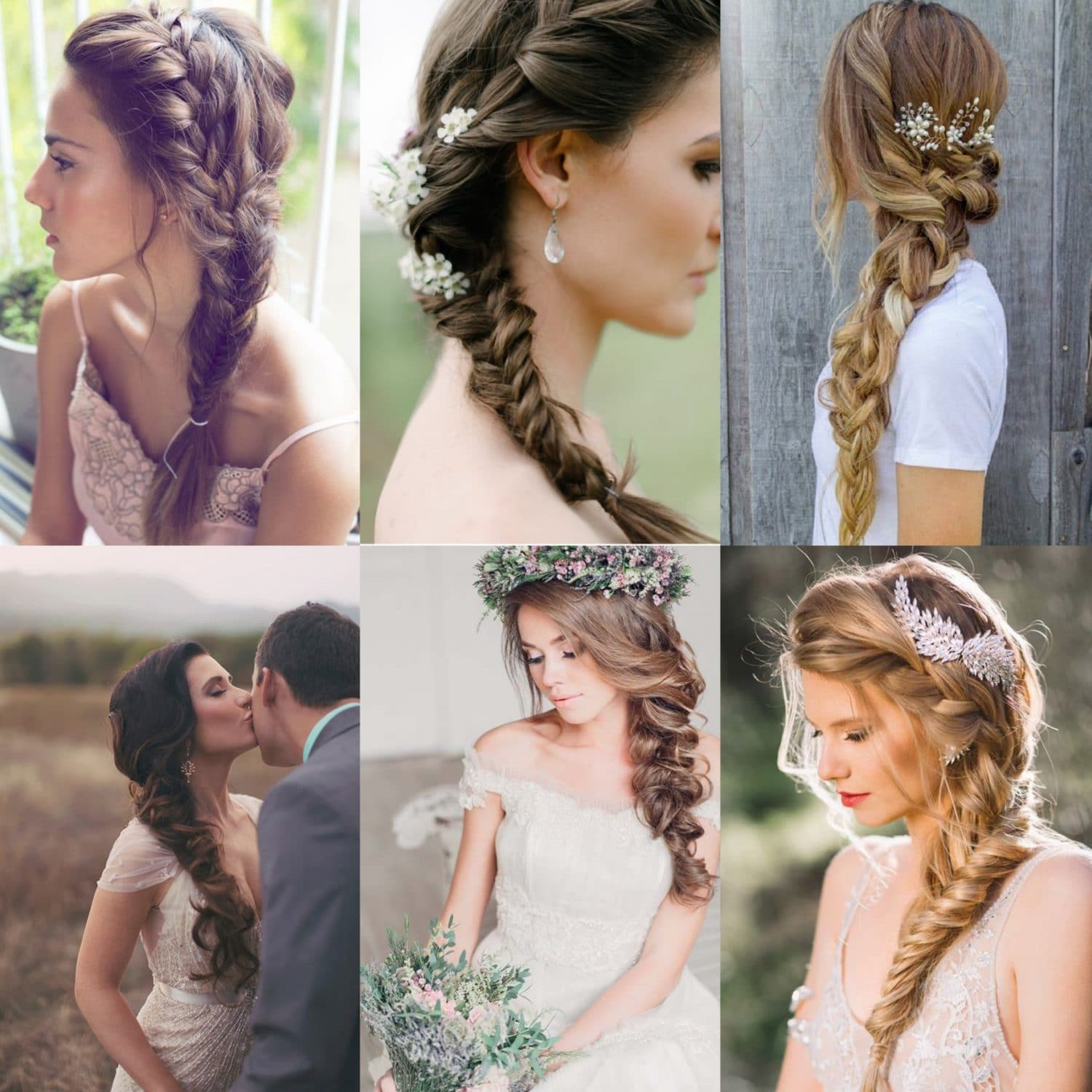 Fishtail Braid Wedding Hairstyles: Capesthorne Hall And Weddings